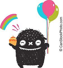 面白い, わずかしか, 虹, モンスター, かわいい, 甘いもの, 黒, 風船, 幸せ