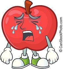 面白い, アップル, 菜食主義者, 特徴, 叫ぶこと, 漫画, 赤