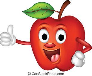 面白い, 「オーケー」, 赤いリンゴ
