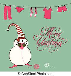 面白い, クリスマスカード, かわいい