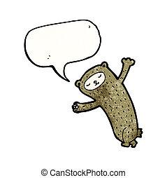 面白い, スピーチ, 熊, 泡