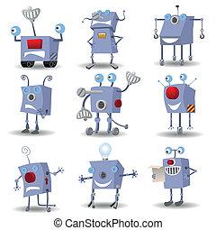 面白い, セット, ロボット