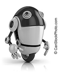 面白い, ロボット, 3d, イラスト