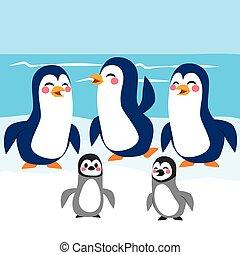 面白い, 南極大陸, ペンギン