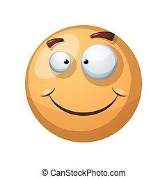 面白い, 幸せ, illustration., 微笑, -, 幸福