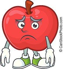 面白い, 恐れている, アップル, 菜食主義者, 特徴, 漫画, 赤