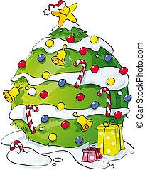 面白い, 木, クリスマス