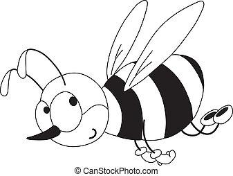 面白い, 概説された, 蜂