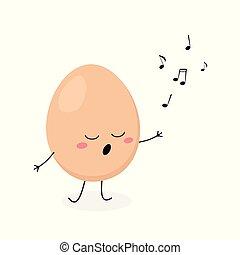 面白い, 歌手, 卵, 漫画