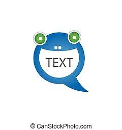 面白い, 泡, コミュニケーション, ベクトル, スピーチ, ロゴ