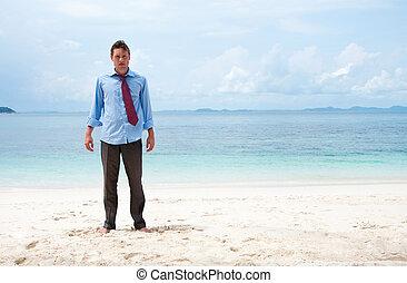 面白い, 浜, ビジネス男