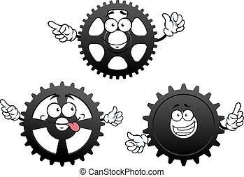 面白い, 漫画, ピニオン, ギヤ, はめば歯車