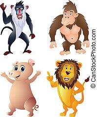 面白い, 漫画, 動物