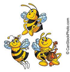 面白い, 漫画, 蜂