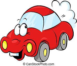 面白い, 漫画, 赤い自動車