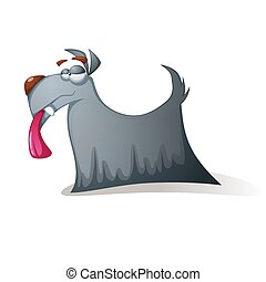面白い, 狂気, -, 犬, characters., 漫画