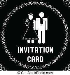面白い, 結婚式, カード, 招待