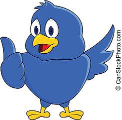 面白い, 青い鳥, 提示, 「オーケー」