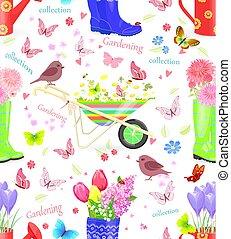 面白い, gardeni, seamless, 手ざわり, 花束, 新鮮な花