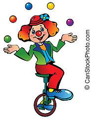 面白い, juggler., ピエロ