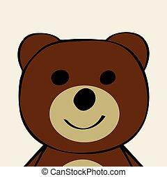 面白い, toy., 漫画, 熊, 動物