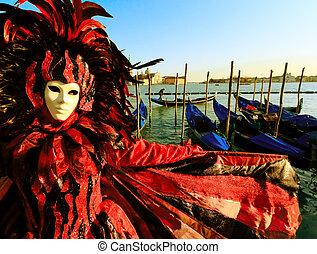 面罩, 在, 威尼斯, italy