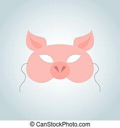 面罩, 豬