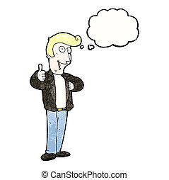 革のジャケット, 人, 漫画, 涼しい