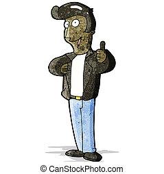 革のジャケット, 漫画, 人