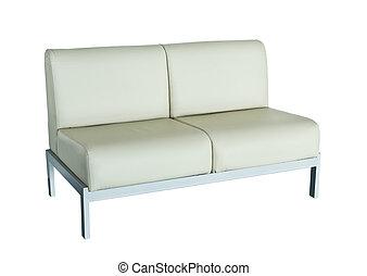 革ソファー, 白い背景
