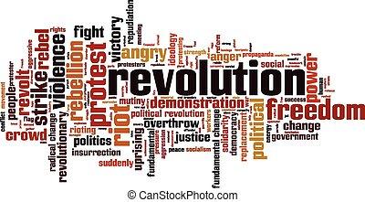 革命, 単語, 雲