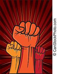 革命, 拳頭