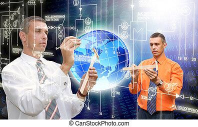 革新的, コンピュータ, 技術
