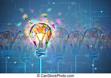 革新, 以及, 創造性, 概念