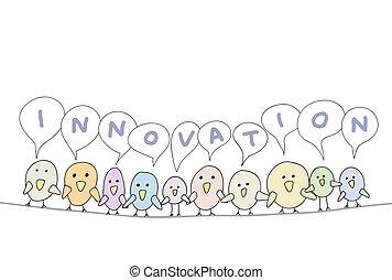 革新, 卡通漫画, 鸟, 线
