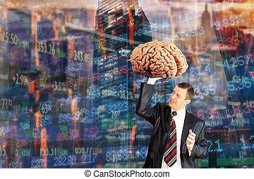 革新, 想法, 经纪人, 在上, the, 证券交易所