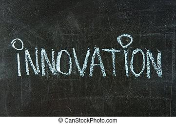 革新, 手書き, 単語, 黒板