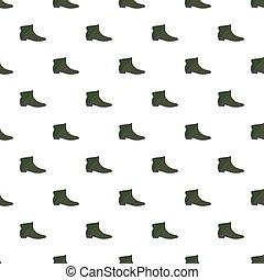 革, パターン, 人, 靴, seamless