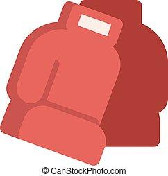 革, ボクシング, 隔離された, 手袋, 対, 白い赤
