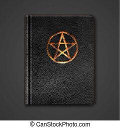 革, 本, pentagram., ベクトル