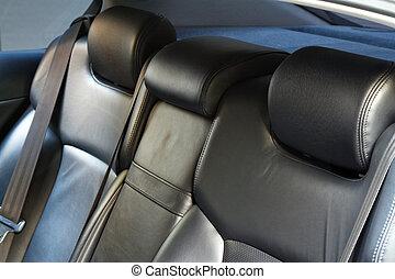 革, 自動車, 背中, 席