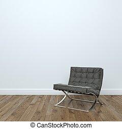 革, 黒, 空, 肘掛け椅子
