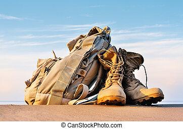 靴子, 以及, 背包