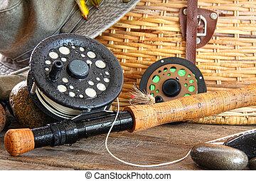 鞭笞, 釣魚, 特寫鏡頭, 飛