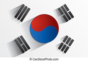 韓国南, 旗