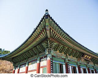 韓国, 家, 伝統的である, 韓国語, naksansa, 寺院, 南