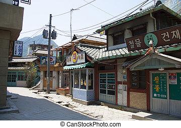 韓国, 映画, 公園, 伝統的である, 主題, 村, 南