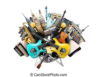 音乐, 拼贴艺术, 乐器