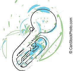 音乐, 矢量, instrument., 描述