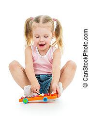 音楽のおもちゃ, 愛らしい, 遊び, 子供